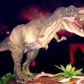 Uno de los dinosaurios de Dinoexpo que llegarán a San Fernando
