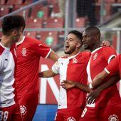 Los jugadores del Girona celebran un gol ante el Almería