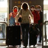 Terminal de llegadas del aeropuerto de Barajas, en Madrid