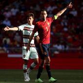 Sergio Busquets en el amistoso ante Portugal