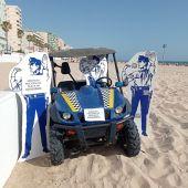 Policías de cartón piedra en Cádiz