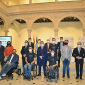 Los deportistas castellano-manchegos preseleccionados para los Juegos Paralímpicos de Tokio han estado esta tarde en el Claustro de La Asunción