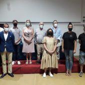 Instantes de la presentación de la iniciativa en Chiclana