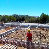 Obras del nuevo centro de día de Cala d'Or (Santanyí) para personas mayores con dependencia