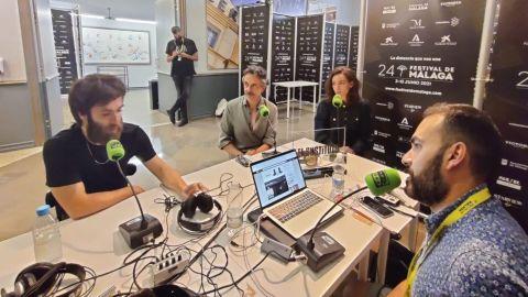 Ricardo Gómez, Pere Ponce y Vicky Luengo conversan con David Martos sobre 'El sustituto'