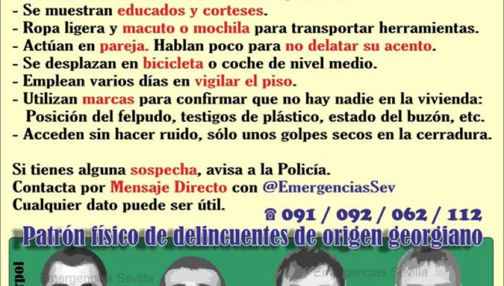 Lista de consejos difundidos por la Policía y Emergencias Sevilla para prevenir los robos en viviendas