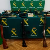 Armas incautadas por la Guardia Civil de Teruel