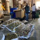 Desmantelada una de las primeras fábricas de hachís asentada en territorio nacional en la operación Overdose iniciada en Murcia