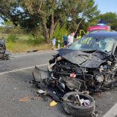 Estado en el que han quedado los dos vehículos implicados en el accidente de la N-332 en Santa Pola.