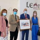 Presentación del cupón de la ONCE con el protagonismo del Mercado del Conde Luna