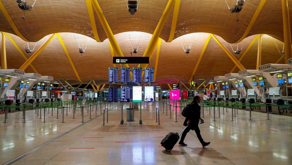 La terminal T4 del aeropuerto de Barajas en Madrid.
