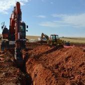 Obras ejecutadas el año pasado para abrir pozos en el Campo de Calatrava