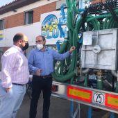 El Vicepresidente 1º de la DPT, Alberto Izquierdo, y el gerente de Agrointelligent, Juan Plumed