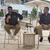 Julián Mármol y Lucas García (Grupo Moga) en la presentación de Godai.