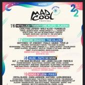 Mad Cool 2020: cartel por días