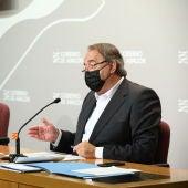 El consejero de Hacienda, en la rueda posterior al Consejo de Gobierno