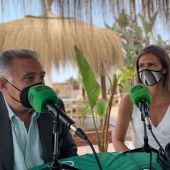 Manuel Villafaina y Pilar Fernández-Fígares, en Más de Uno