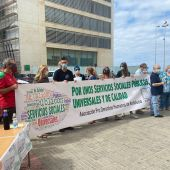 Manifestación de la APDHA hoy en Cádiz