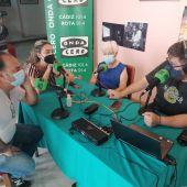 Instantes de la entrevista hoy en Más de Uno con la familia de Laureano Hernández