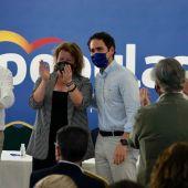 Toni Pérez, Ana Serna, Teodoro García Egea y Carlos Mazón