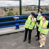 Visita a las obras del puente de sobre las vías del AVE en San Andrés del Rabanedo