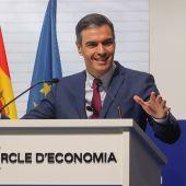 l presidente del Gobierno, Pedro Sánchez, durante su intervención en la clausura de la XXVI reunión del Cercle de Economía en Barcelona