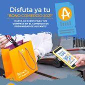 Cartel de promocional de la campaña Bono Comercio en Alicante