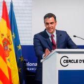 Pedro Sánchez en el Círculo de Economía