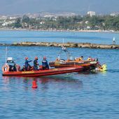 Simulacro de salvamento marítimo