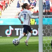 Griezmann en el partido de Francia contra Hungría