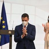 Pedro Sánchez agradece el esfuerzo de la comunidad educativa en un acto en Moncloa