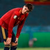 Álvaro Morata, en un partido con la selección española.