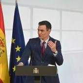 Pedro Sánchez en el acto homenaje a la comunidad educativa