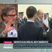 """Paco Marhuenda asegura que hay una """"cacería"""" contra el rey emérito y Cristina Pardo se lo recrimina: """"¿Te parece que es un santo?"""""""
