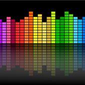 ondas ecualizador música