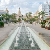 Plaza San Juan de Dios, en Cádiz