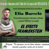 La escritora Elia Barceló, Premio Nacional de Literatura Infantil y Juvenil 2020, clausurará online el club 2020-2021