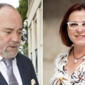 Julián Pérez Templado, presidente CTRM e Isabel Franco, responsable Consejería Transparencia