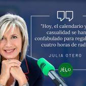 El mensaje de Julia Otero en Julia en la Onda