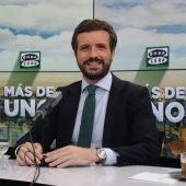 El líder del PP, Pablo Casado, en Más de Uno