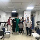 Dentro de la unidad de rehabilitación del Clínico