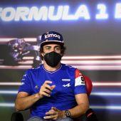 Fernando Alonso en un acto en el GP de Estiria