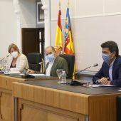 Serna, Melgarejo y Mazón en la Comisión Técnica del Agua