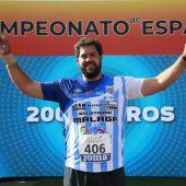 Borja Vivas, medalla de plata en el último Campeonato de España de su carrera