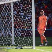 Unai Simón tras su grave error ante Croacia