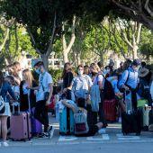 Estudiantes desconfinados en Mallorca