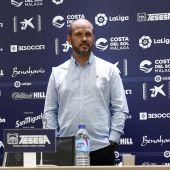 José Alberto López el día de su presentación en La Rosaleda