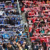 Aficionados del Real Oviedo y el Sporting.