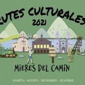 Cartel rutas culturales de Mieres