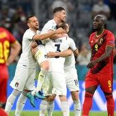 Los jugadores de Italia celebran el pase a semifinales de la Eurocopa